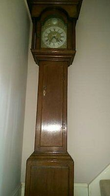 Georgian oak longcase/grandfather clock c1750