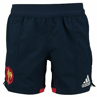 adidas Mens Gents France Rugby Home Shorts Bottoms - Blue