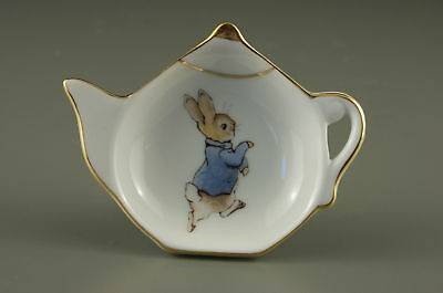 Reutter Porcelain Beatrix Potter Peter Rabbit Tea Bag Tidy NEW