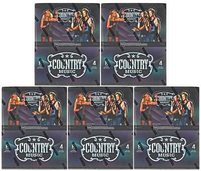 2014 Panini Country Music Hobby Box Lot Of 5 - At Least 10 Autos/lot!