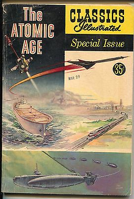 Classics Illustrated Special Edition #156A 1960-The Atomic Age-Crandall-VG