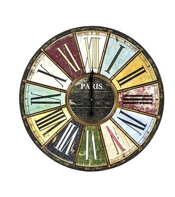 Wood Living Room French Country Unbranded Wall Clock Shabby Chic Vintage Style