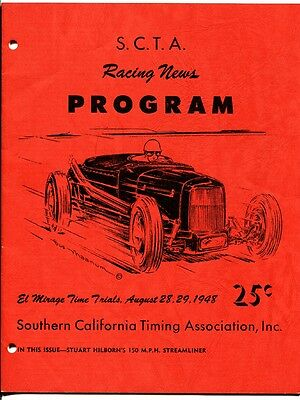 El Mirage California Dry Lakes Russetta Timing Assoc Race Program 8/29/1948