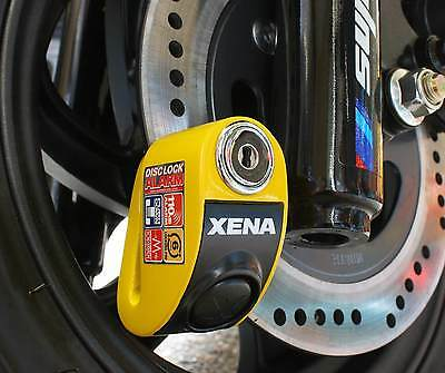 New XENA XZZ6L Disc Lock Alarm Yellow Free Delivery