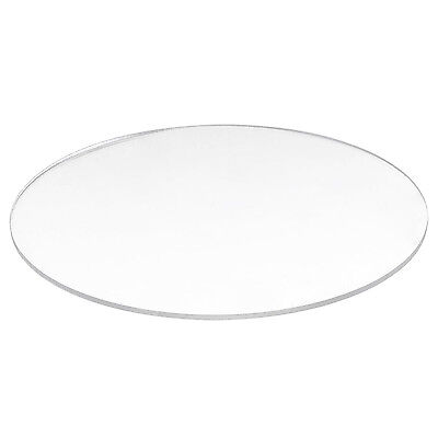 Transparent  3mm thick Mirror Acrylic round Disc A2V8