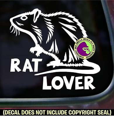 RAT LOVER Pet Love Rodent Vinyl Decal Sticker Car Window Wall Laptop Sign