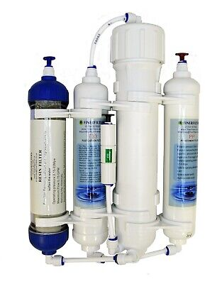 Finerfilters 4 Stage Compact Aquatic Reverse Osmosis System - RO Unit & DI Resin