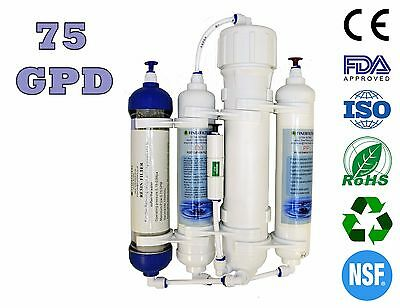 Finerfilters Aquatic 4 Stage Compact Reverse Osmosis Unit with DI Resin (75GPD)