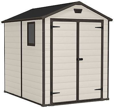 Keter Manor Apex Lockable Doors Plastic Shed - Choice of Size - From Argos ebay