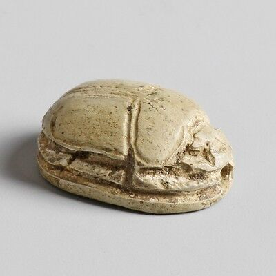 Egyptian Faience Scarab from the Mustaki collection
