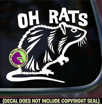 OH RATS Pet Rat Love Rodent Vinyl Decal Sticker Car Window Wall Laptop Sign