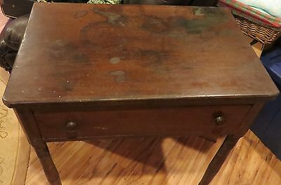 Antique Early American Civil War Era Solid Wood C1860 Dovetailed Table
