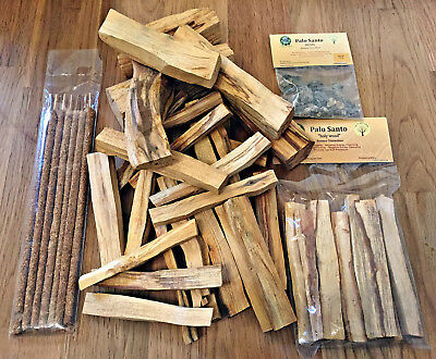 Palo Santo Sticks Resins Woods All Sizes HIGH OIL Fresh Cut-Rich Aroma