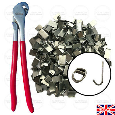 Heavy duty j-clip pliers and Aprox 400 j-clips, fencing, poultry, aviary's
