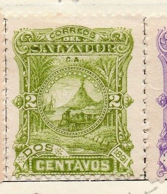 Salvador 1891 Early Issue Fine Mint Hinged 2c. 148177