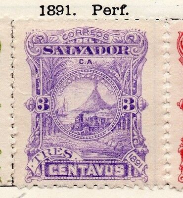 Salvador 1891 Early Issue Fine Mint Hinged 3c. 148178