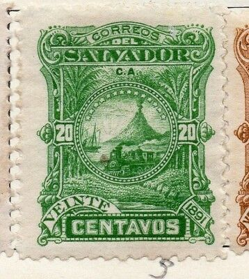 Salvador 1891 Early Issue Fine Mint Hinged 20c. 148182