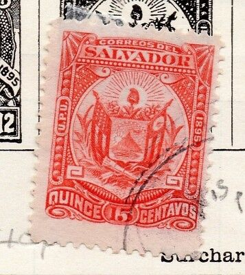 Salvador 1895 Early Issue Fine Used 15c. 148203