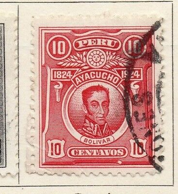 Peru 1924 Early Issue Fine Used 10c. 148251