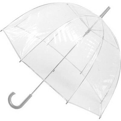 Totes Classic Canopy Clear Bubble Umbrella Polyester Deal Solid Rain Protection
