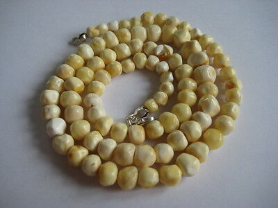 Bernsteinkette Baltic Amber Necklace Weiß-White