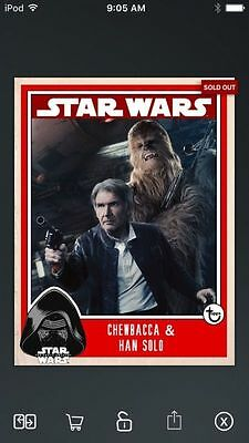 Topps Star Wars Digital Card Trader Chewbacca & Han Solo Prime Insert
