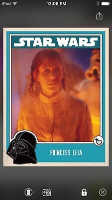 Topps Star Wars Digital Card Trader Princess Leia Prime Insert