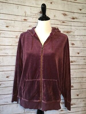 Gap Maternity Women's Hoodie Velour Full Zipper Long Sleeves Size Medium