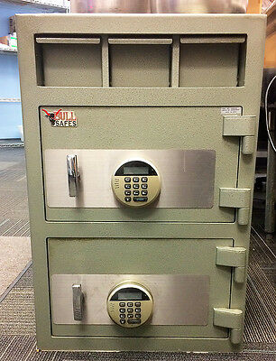 Blue Air Bull Safe heavy duty commercial depository and money manager safe