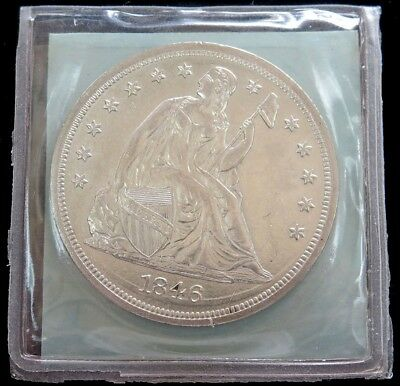 1846 Walter Breen Pedigree No Motto Silver Seated Liberty Dollar