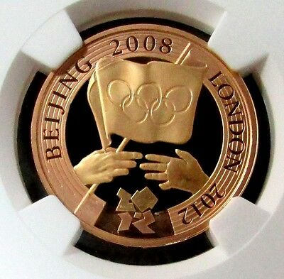 2008 Gold Great Britain 2 Pounds Olympic Coin Ngc Proof 68 Ultra Cameo
