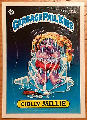 Chilly Millie 32b ~ Garbage Pail Kids US Series 1 Sticker (1985) Topps ~ VGC