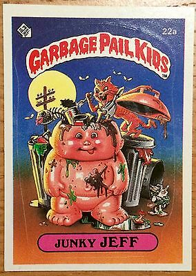 Junky Jeff 22a Garbage Pail Kids US Series 1 Sticker(1985)Vintage ~ Topps ~ VGC