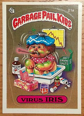 Virus Iris 21a Garbage Pail Kids US Series 1 Sticker(1985)Vintage ~ Topps ~ VGC