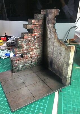 """R-01-1/12: FIGLot 1/12 Paper-craft Diorama Ruins Wall for 6"""" Action figures"""
