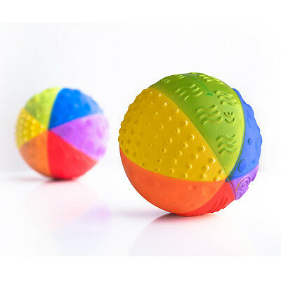 caaOcho Rainbow Sensory Ball | Pure natural rubber baby toy