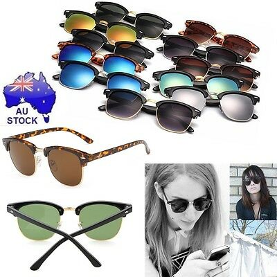 Classic Clubmaster UV400 Retro Vintage Polarized Sunglasses Women Men Cycling