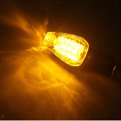 2x Universal Bright Turn Signal Light with Clear Lens for Motorcycle 10mm