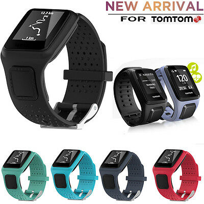 Hot Replacement Silicagel  Soft Band Strap For TomTom Runner Cardio GPS HR Watch