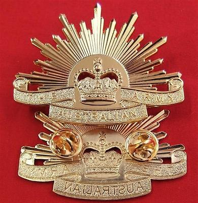 ***vietnam Iraq Afghanistan War Australian Army Rising Sun Uniform Cap Badge*