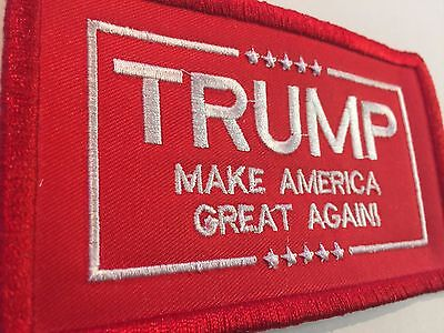 President TRUMP MAKE AMERICA GREAT AGAIN RED Commemorative Patch 3x4.5 INCH USA