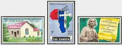 Timbres Religion Gambie 243/5 ** lot 19718