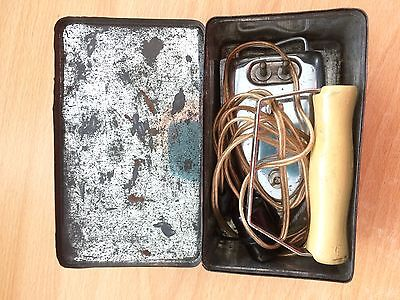 Vintage Prilect Travel Traveling Iron 1950s in Original Box and Packaging