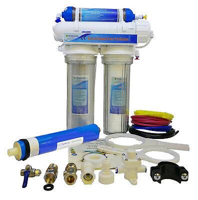 Finerfilters 4 Stage Aquatic Reverse Osmosis RO Unit With DI Chamber (75GPD)
