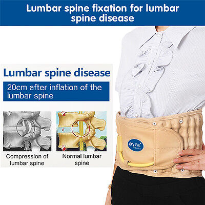 Spinal Air Traction Physio Decompression Back Belt Lumbar Pain Lower Waist Brace