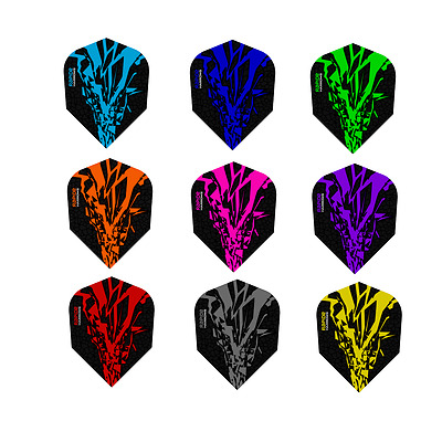 Harrows Rapide X Dart Flights - Tough Standard Shape - 9 Colours 1/5/10 Sets