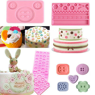 3D Button Silicone Fondant Mold Chocolate Cake Decorating Baking Diy Mould Tool