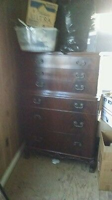 6 Drawer High Chest on Chest Dresser