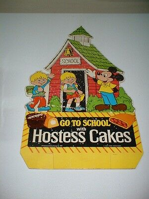 """1980 Hostess Display Mickey Mouse Cakes And Dounuts 2 Sided 19"""""""