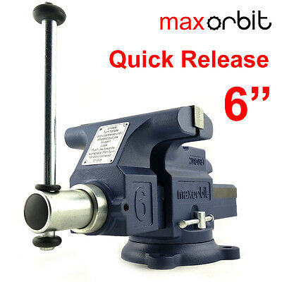 """Quick Release 6"""" 150mm Heavy Duty Engineers Bench Vice 2 Ton Semi Precision"""